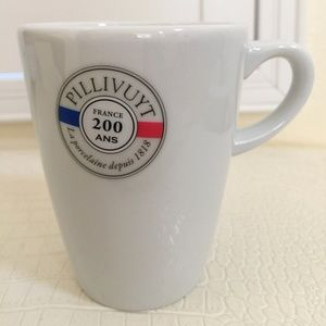 Pillivuyt France Porcelain White Ceramic Cup 6oz